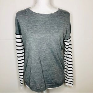 French Connection striped sleeve sweater